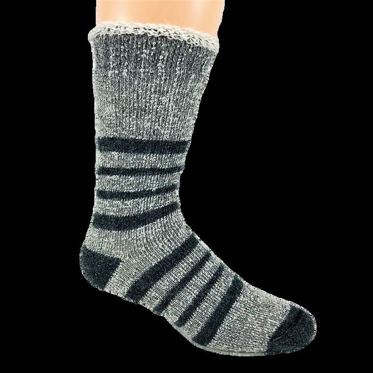 Thermal Alpaca Terry Sock - Grey Stripe