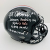 JK Dobbins Ohio State Buckeyes 4x Inscription Autographed Black Replica Helmet - JSA Authentic