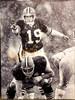 Bernie Kosar Cleveland Browns 30x40 Autographed Canvas (Orange) - Certified Authentic