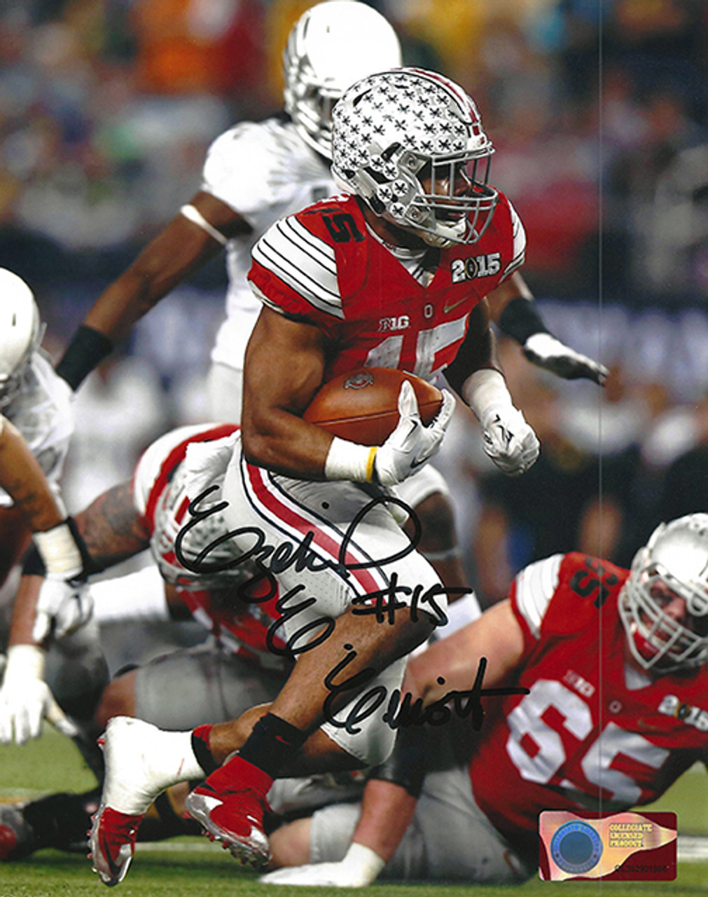 info for d599f d1955 Ezekiel Elliott OSU 8-1 8x10 Autographed Photo - Elliott COA