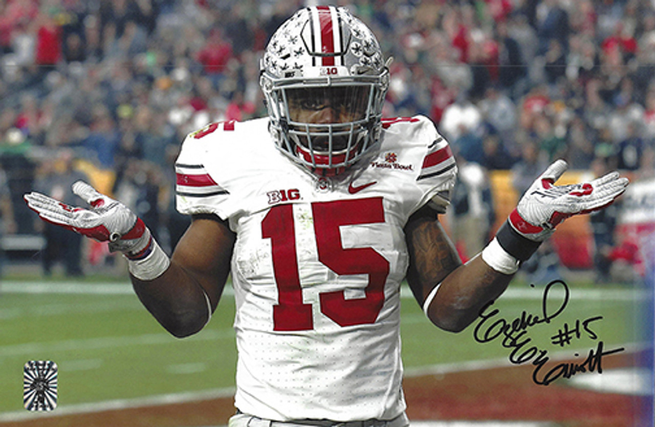 best sneakers 9235e e23a3 Ezekiel Elliott OSU 8-1 8x12 Autographed Photo - Elliott COA