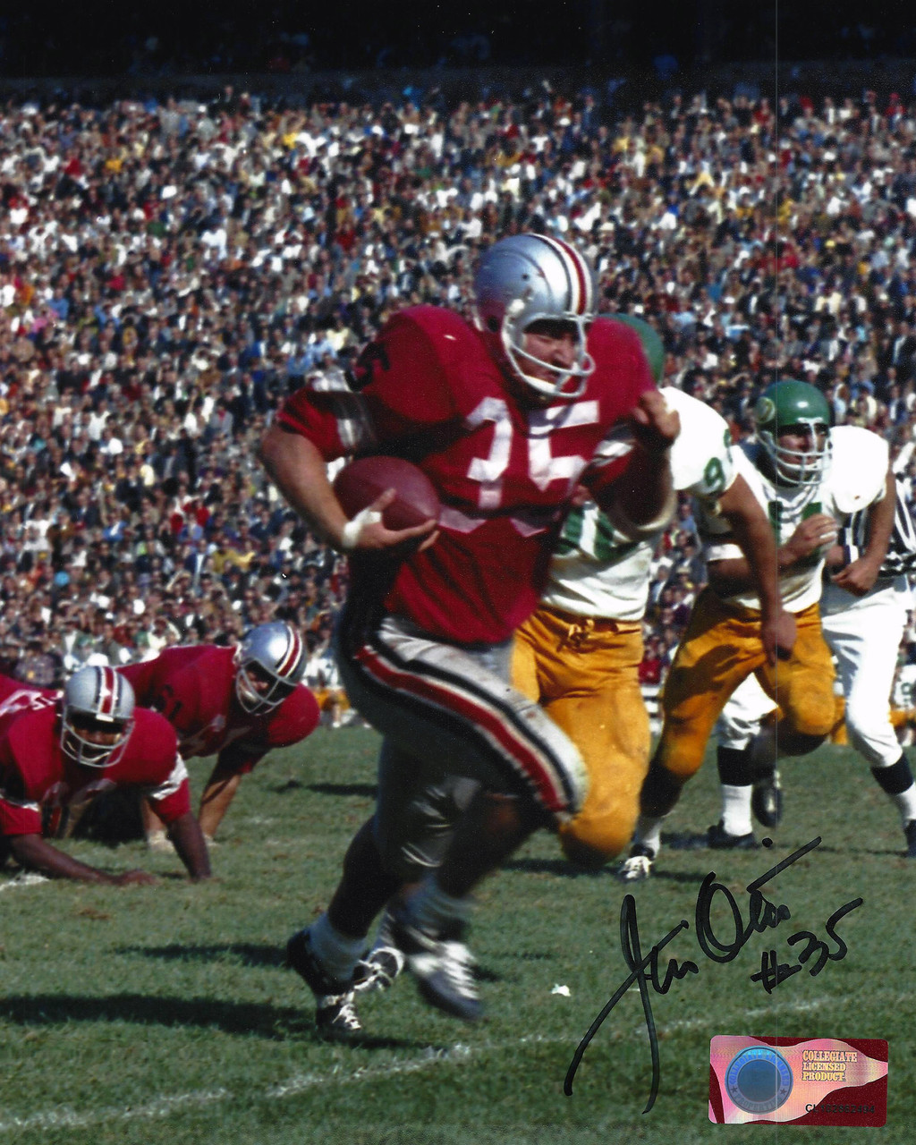 Jim Otis OSU 8-4 8x10 Autographed Photo - Certified Authentic