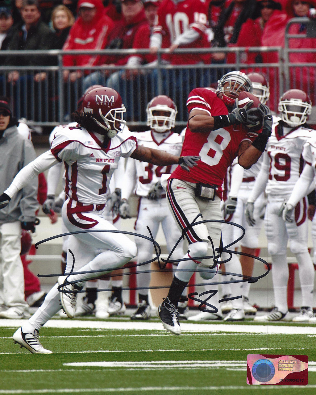 DeVier Posey OSU 8-11 8x10 Autographed Photo - Certified Authentic