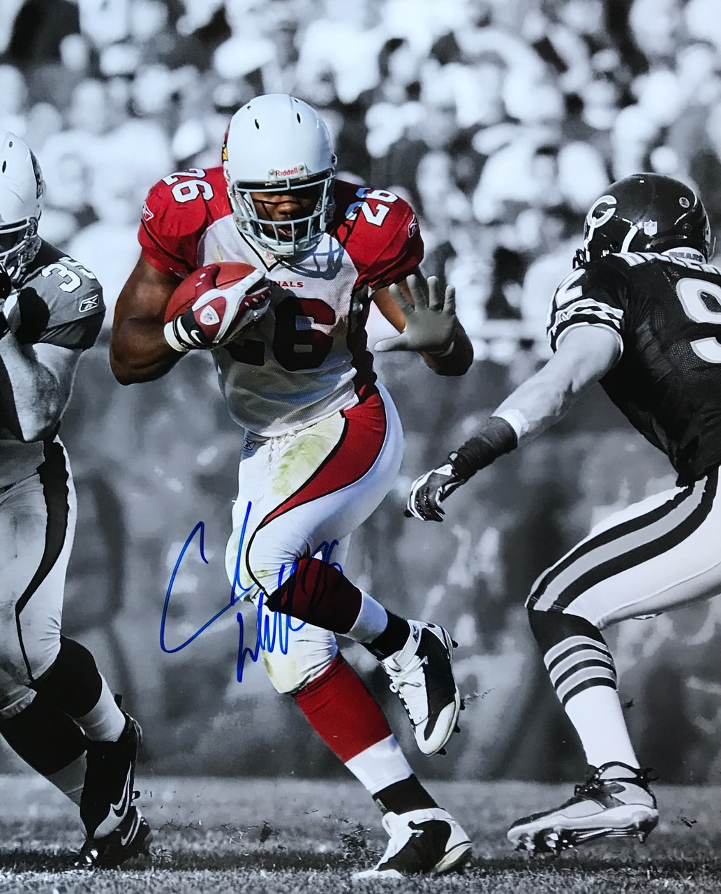 Chris Beanie Wells Arizona Cardinals 16-1 16x20 Autographed Photo - Certified Authentic