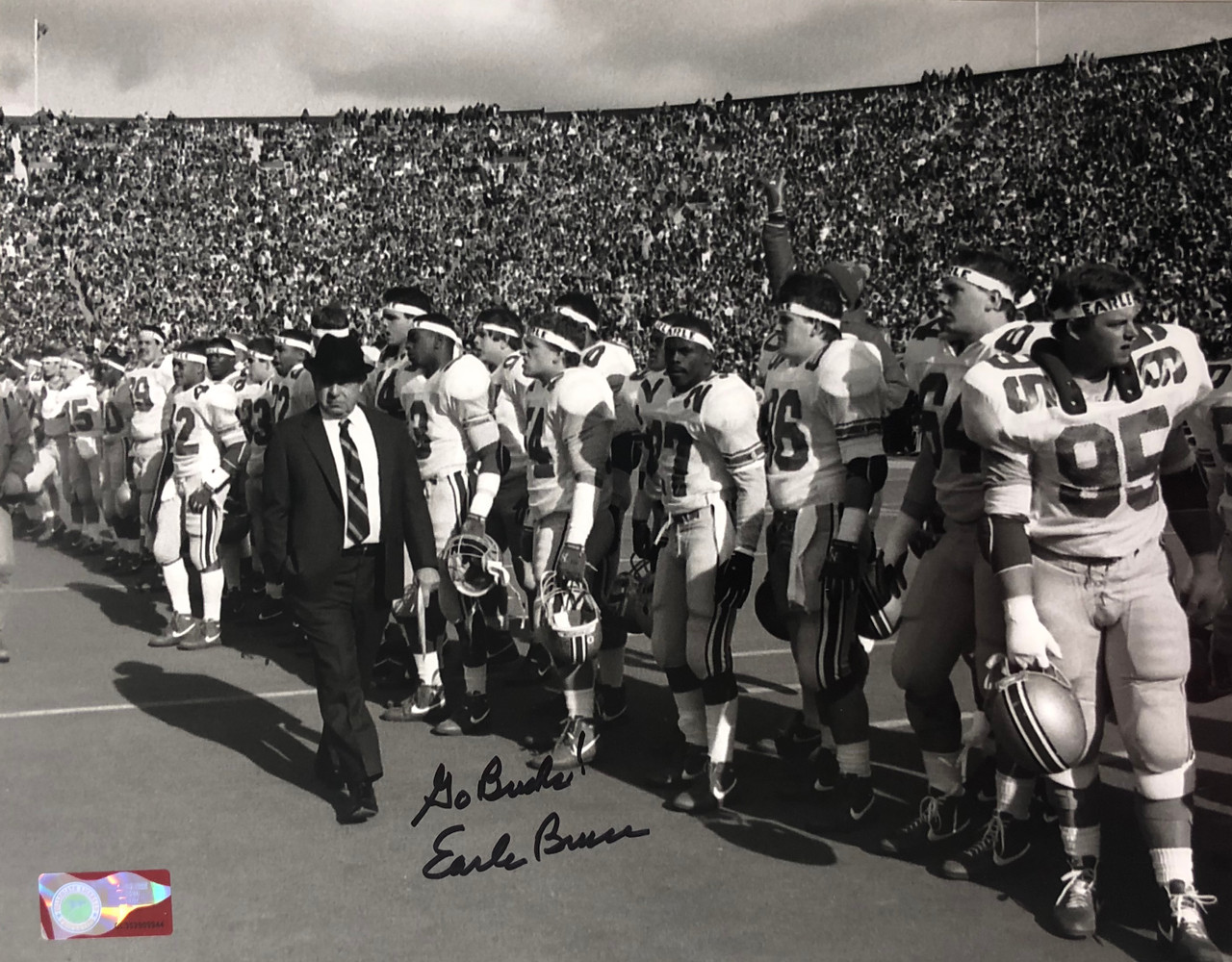 Earle Bruce OSU 11-2 11x14 Autographed Photo - Certified Authentic