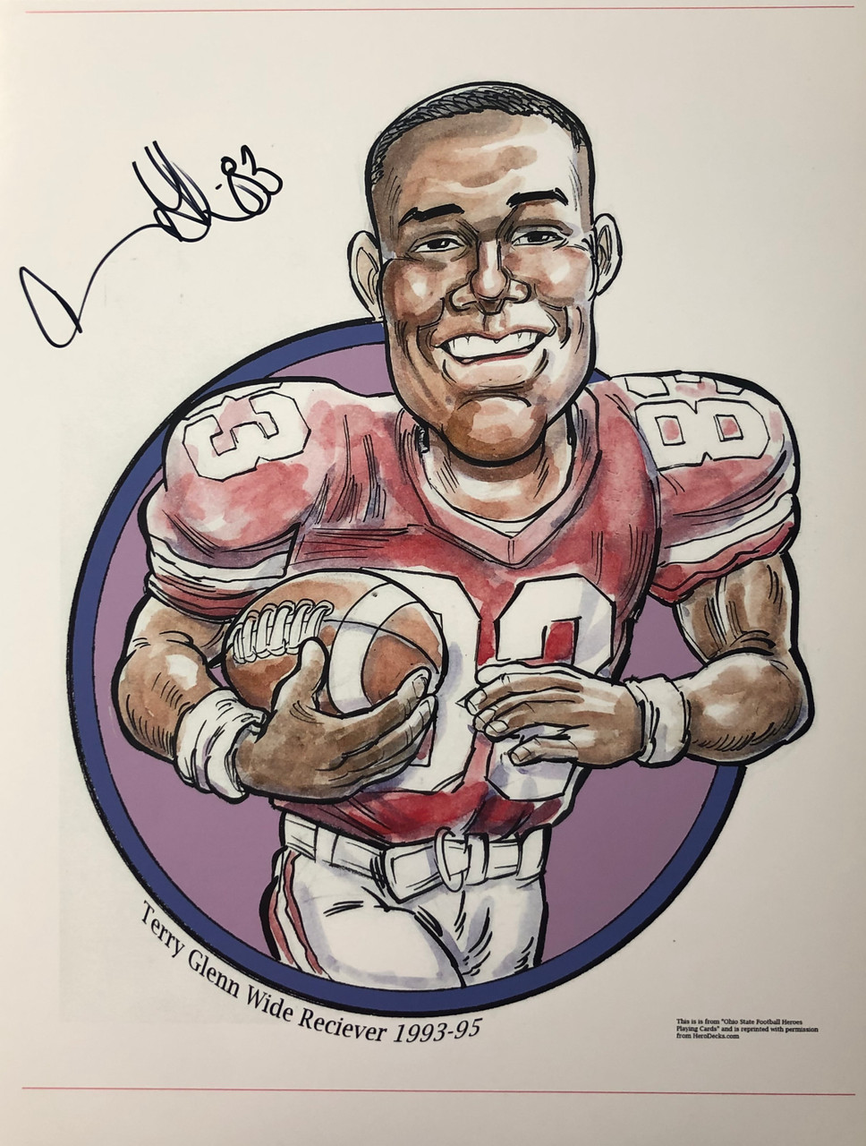 Terry Glenn OSU 11-1 11x14 Autographed Photo - Certified Authentic