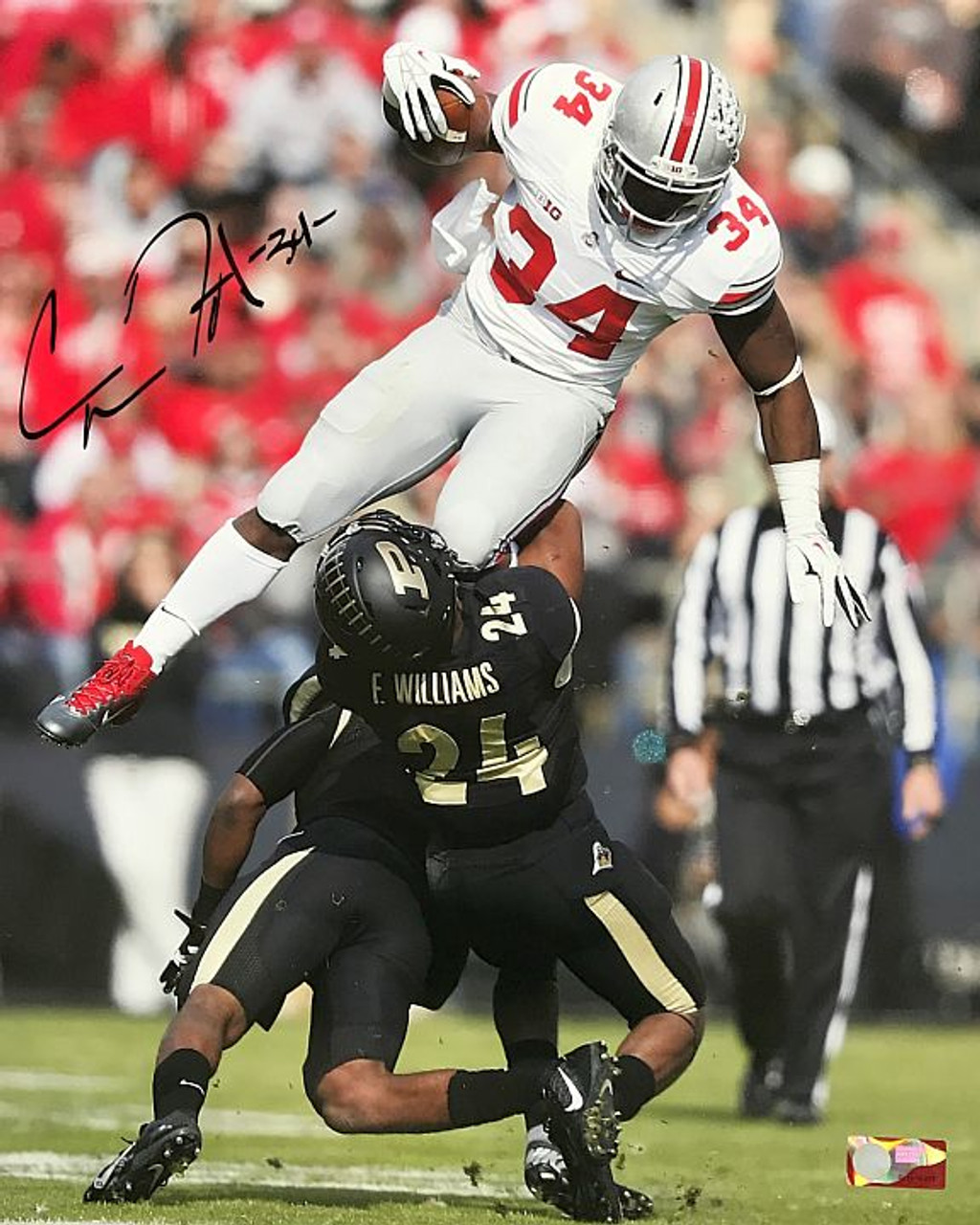 Carlos Hyde OSU 16-4 16x20 Autographed Photo - Certified Authentic