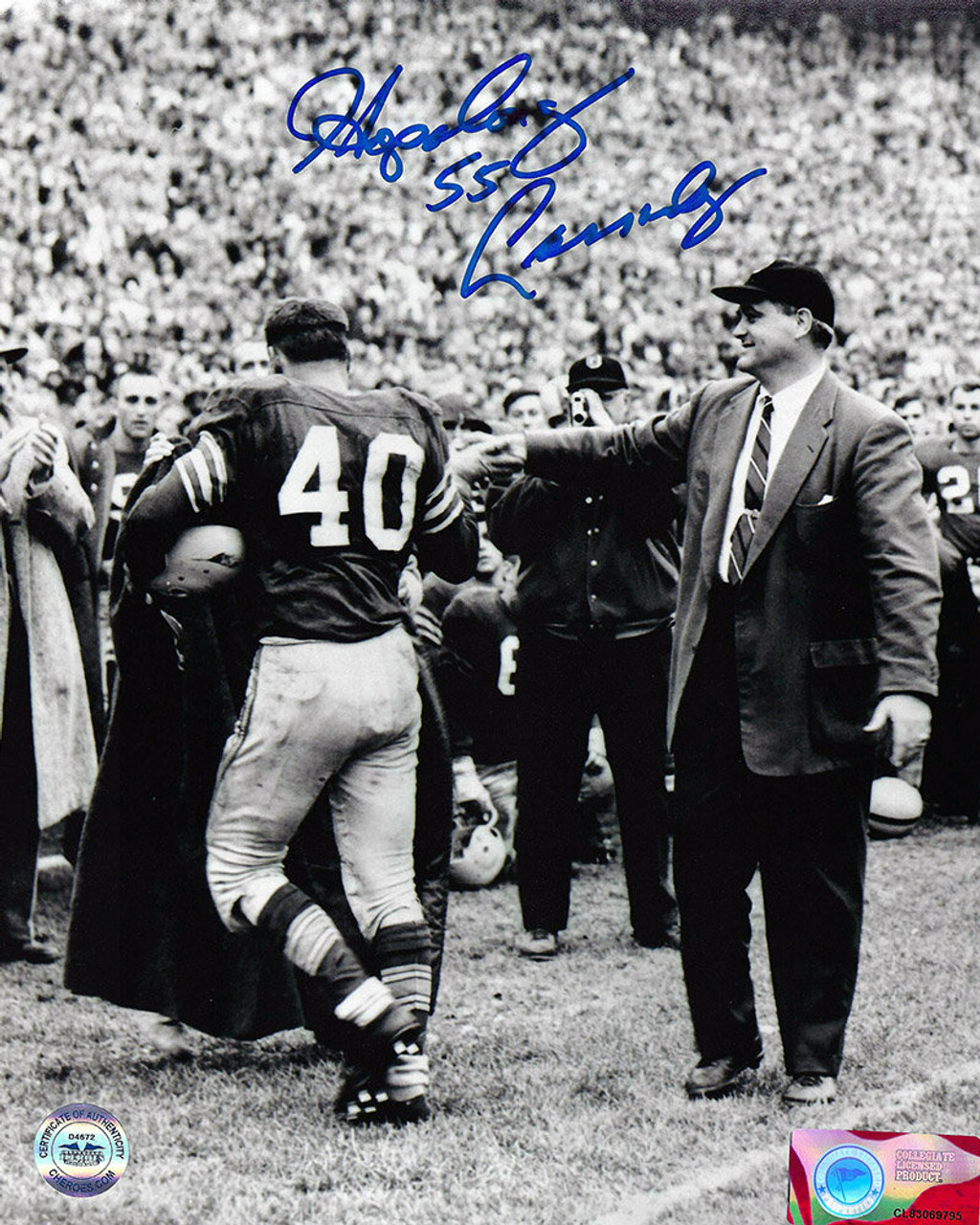 "Howard ""Hopalong"" Cassady OSU 8-20 8x10 Photo - Certified Authentic"