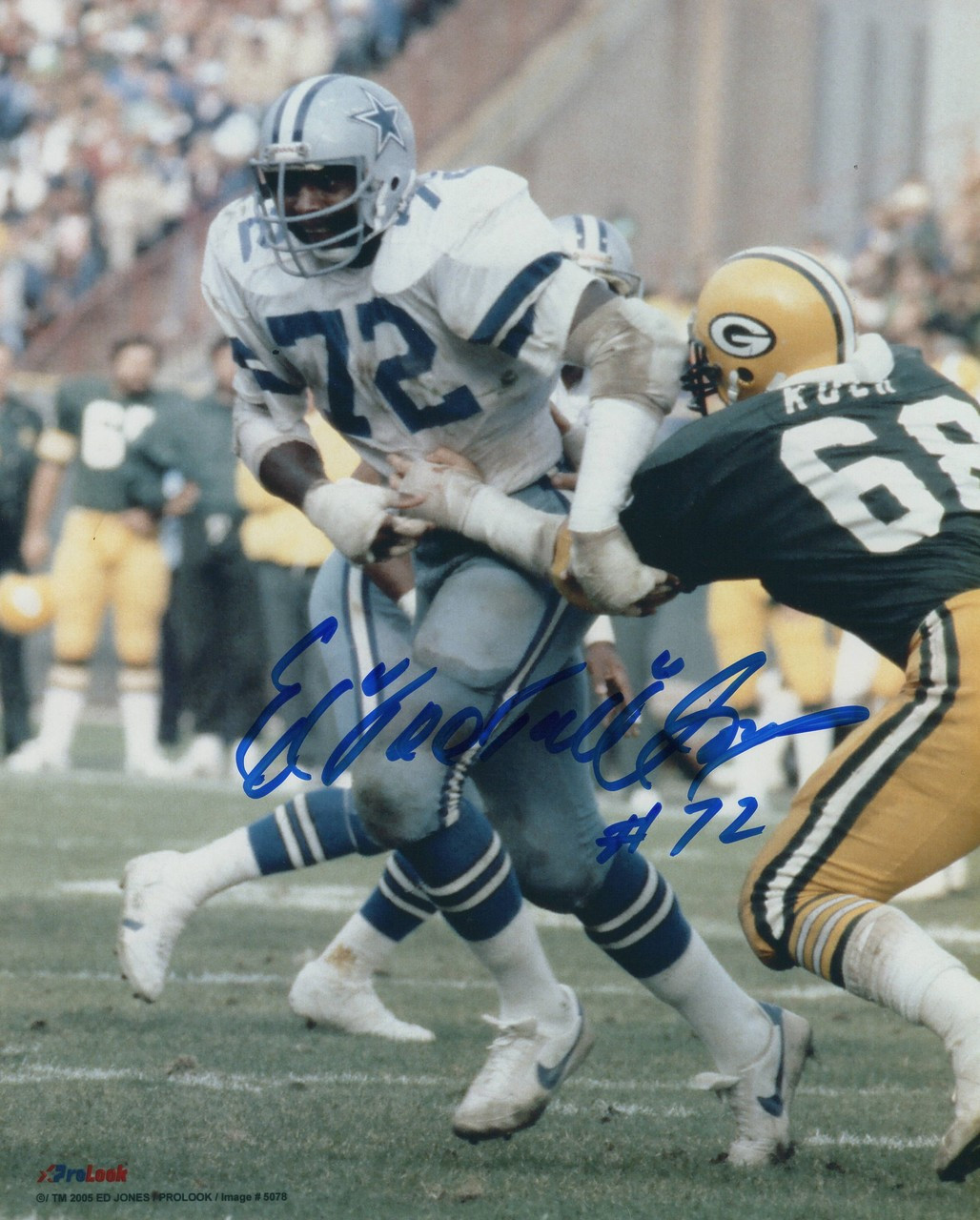 a0664a30f48 Ed 'Too Tall' Jones Dallas Cowboys 8-1 8x10 Autographed Photo - Certified  Authentic