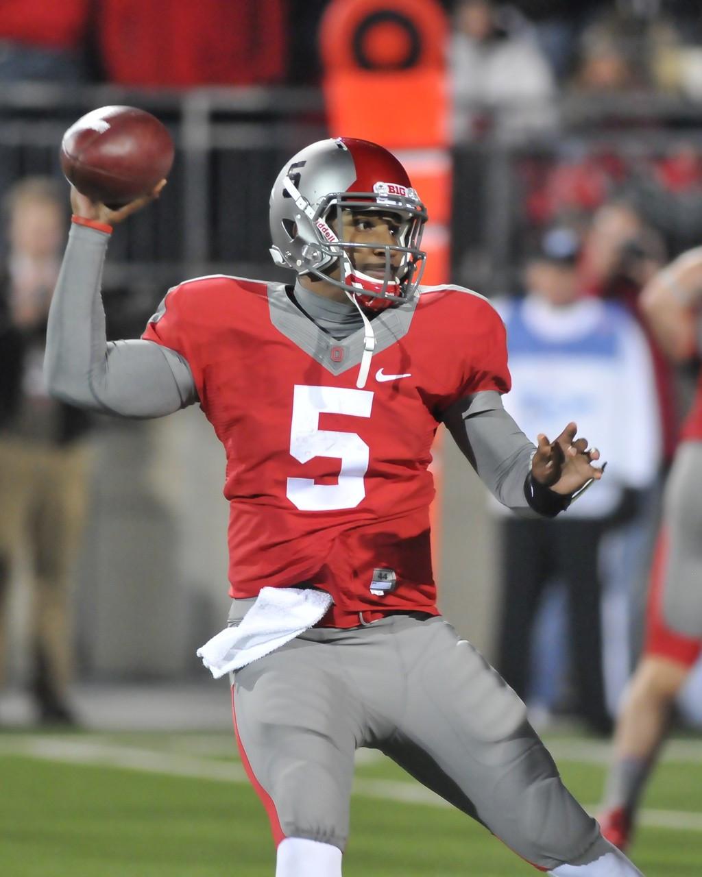 Braxton Miller #1 Ohio State Buckeyes Football Jersey - Red