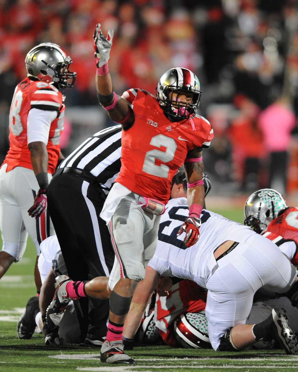 reputable site f8521 be5fb Ryan Shazier Ohio State Buckeyes Licensed Unsigned Photo
