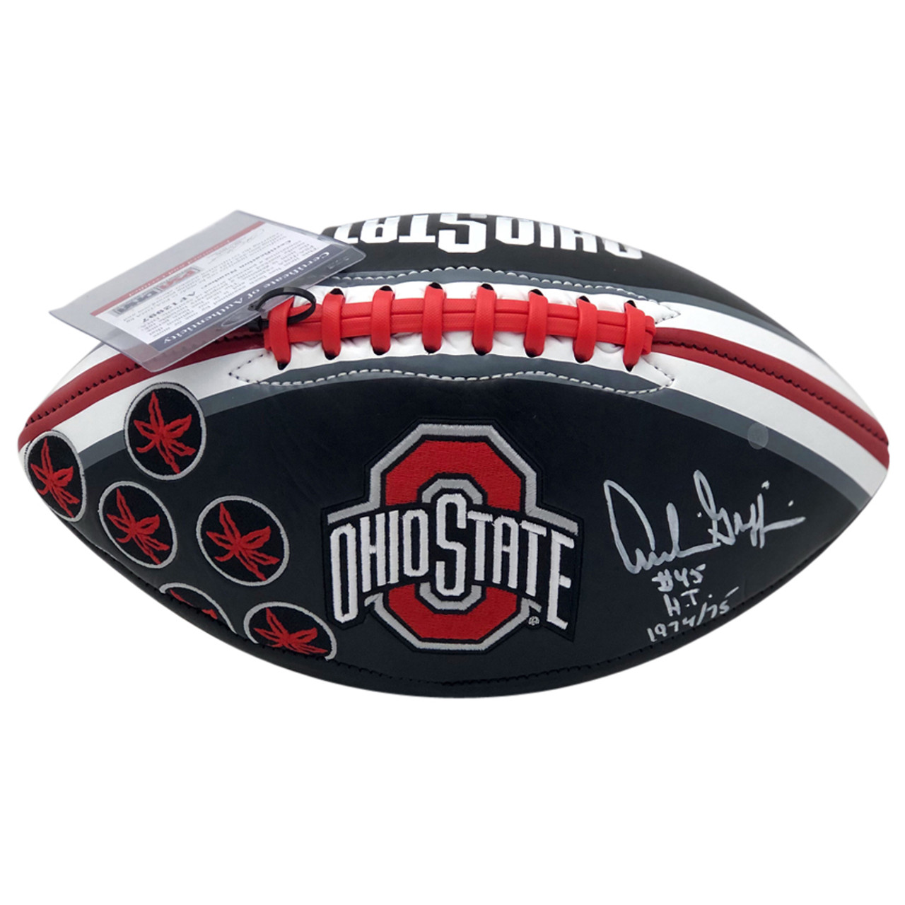 466b606c5a9 Archie Griffin Ohio State Buckeyes Autographed Black Football - PSA  Authentic