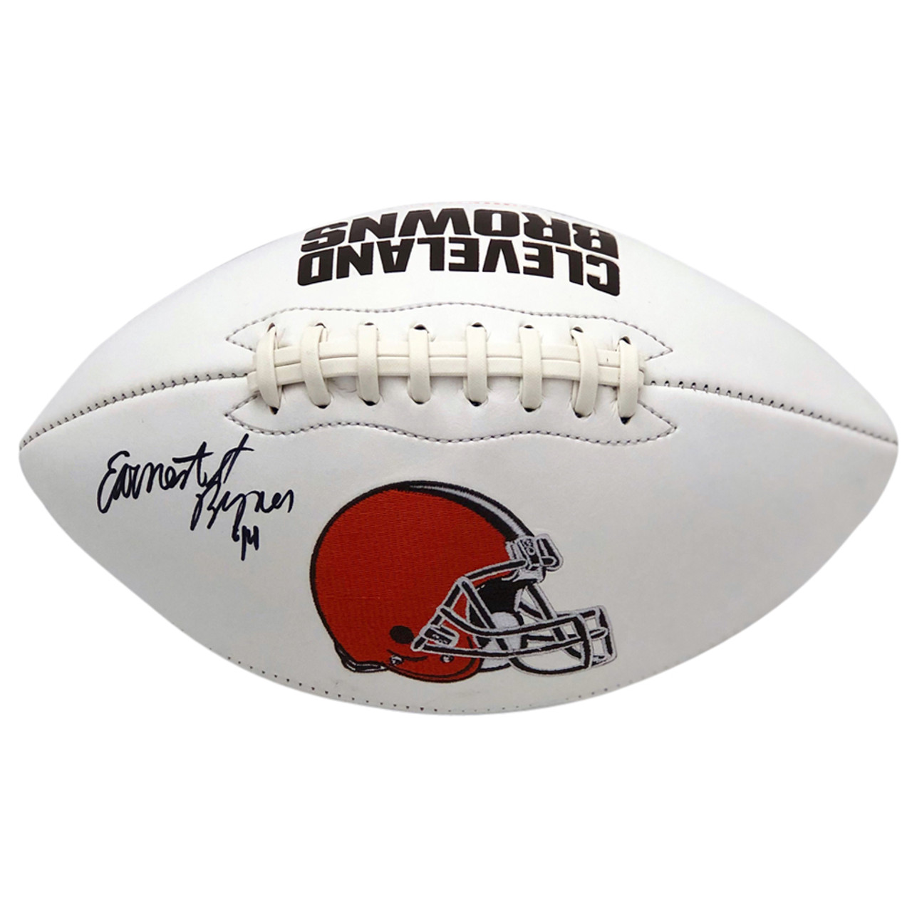 e1b47e4b8 Earnest Byner Cleveland Browns Autographed White Panel Football - Certified  Authentic