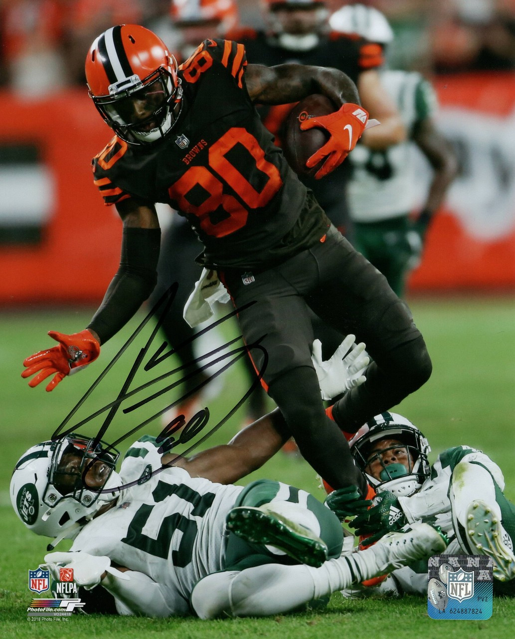 ae36a738 Jarvis Landry Cleveland Browns 8-1 8x10 Autographed Photo - Certified  Authentic