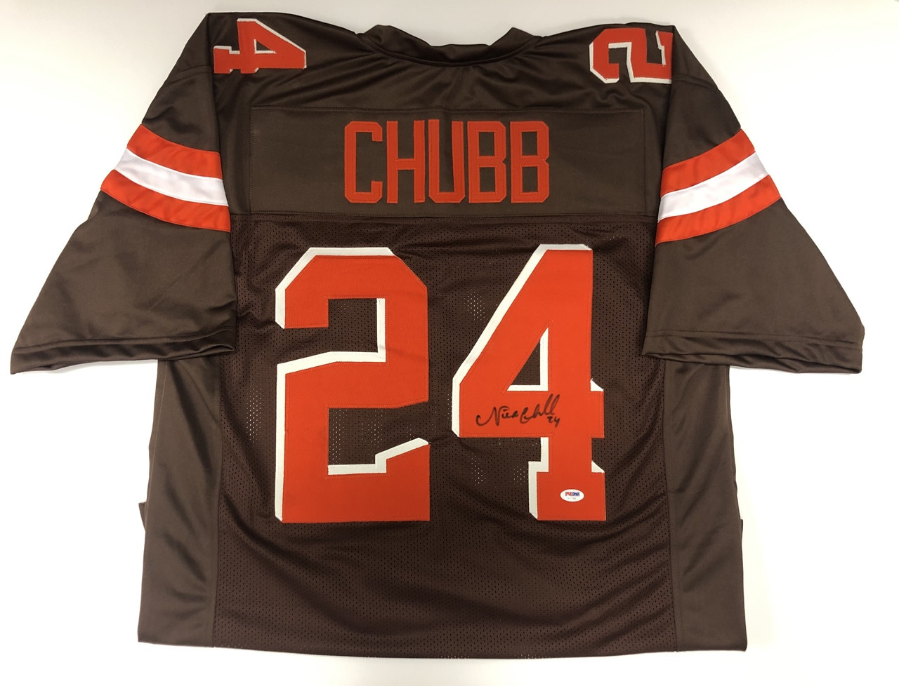 huge selection of da779 e9f50 Nick Chubb Cleveland Browns Autographed Jersey - PSA Authentic