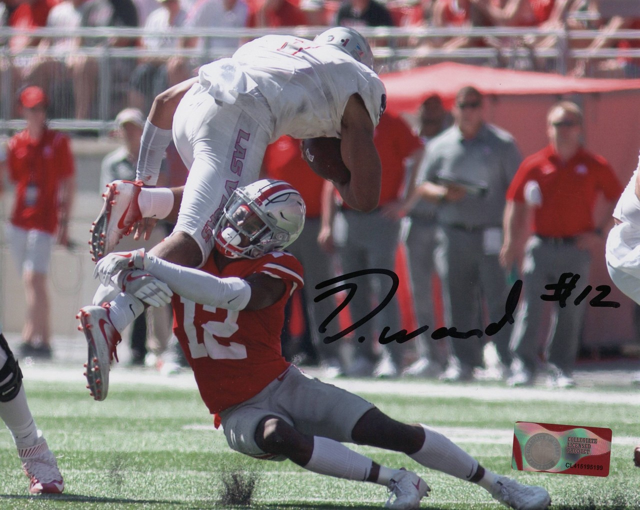 best service fd20e 73281 Denzel Ward Ohio State Buckeyes 16-2 16x20 Autographed Photo - Certified  Authentic