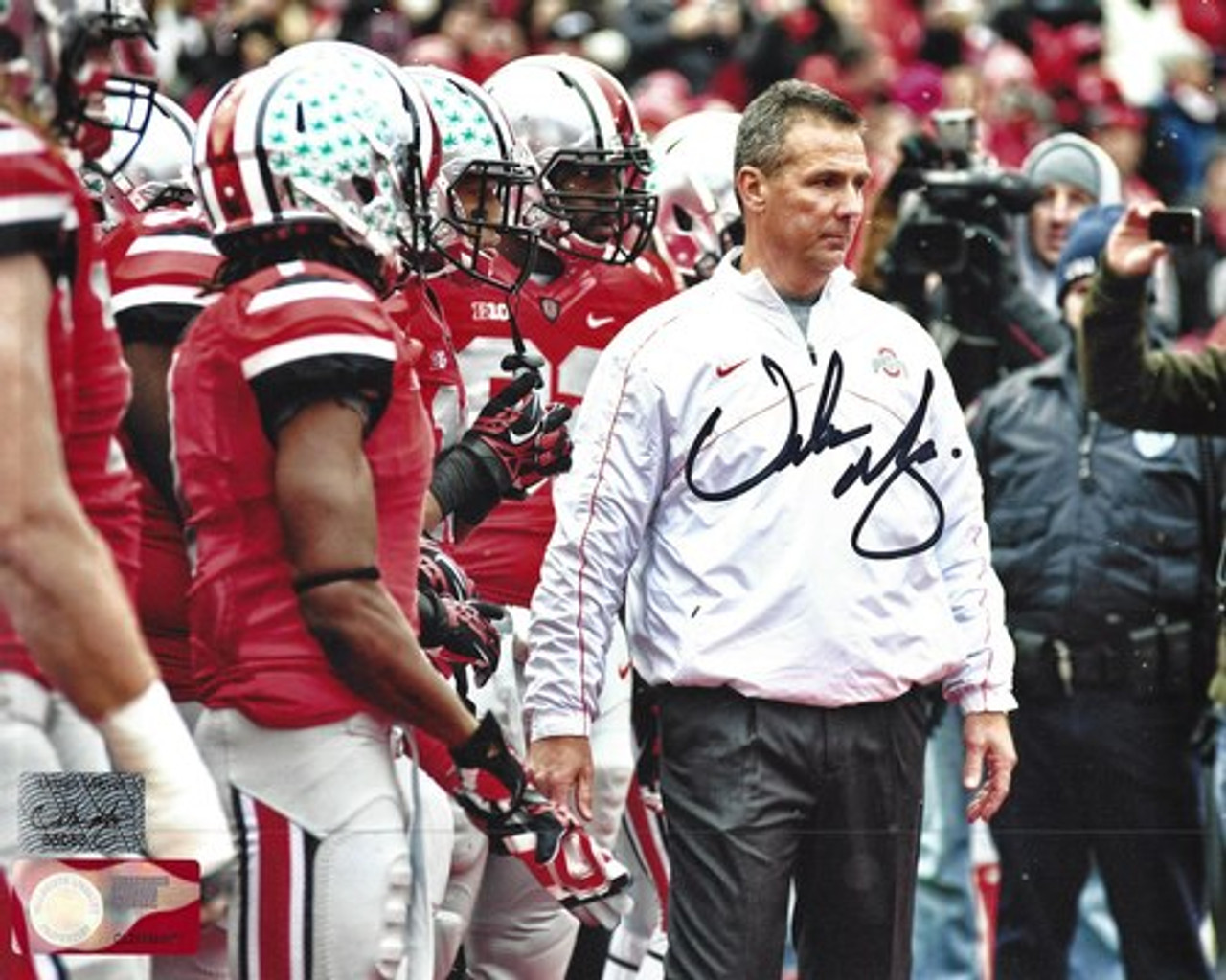 Urban Meyer Ohio State Buckeyes 16-2 16x20 Autographed Photo - PSA Authentic
