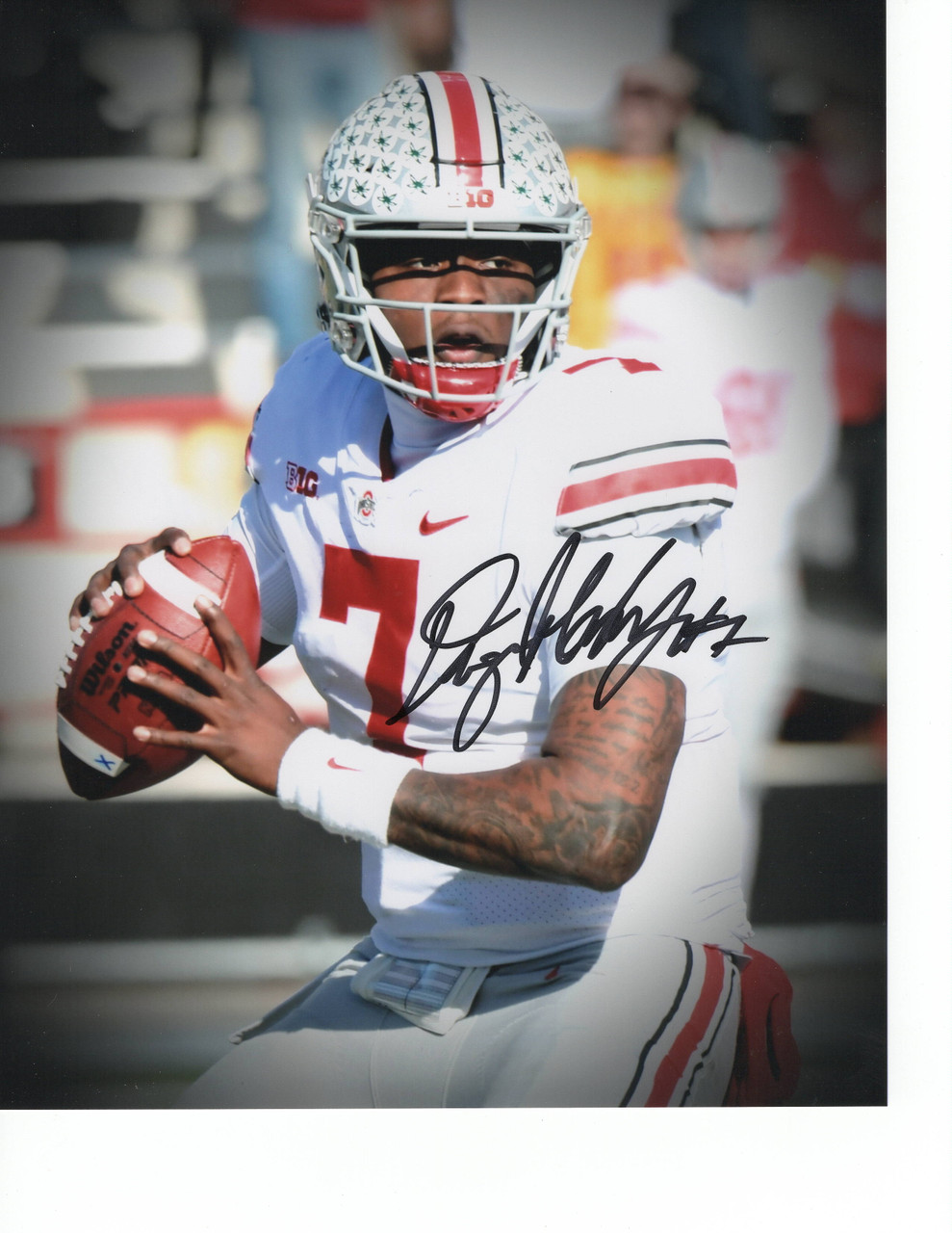 Dwayne Haskins Ohio State Buckeyes 8-1 8x10 Autographed Photo - Certified Authentic