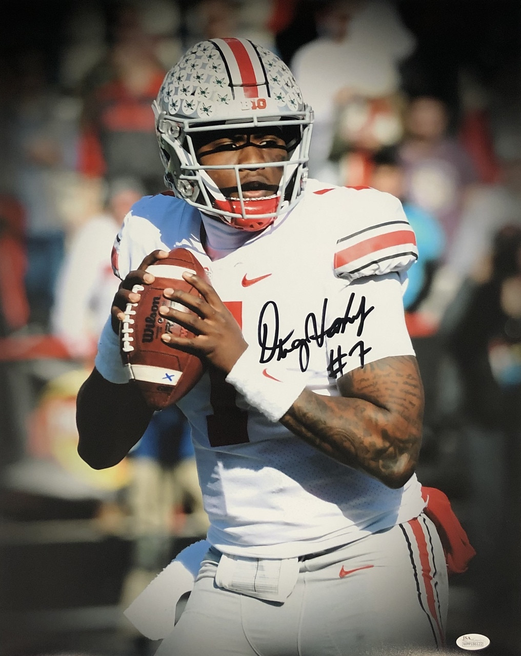 big sale 982bc 74166 Dwayne Haskins Ohio State Buckeyes 16-1 16x20 Autographed Photo - Certified  Authentic