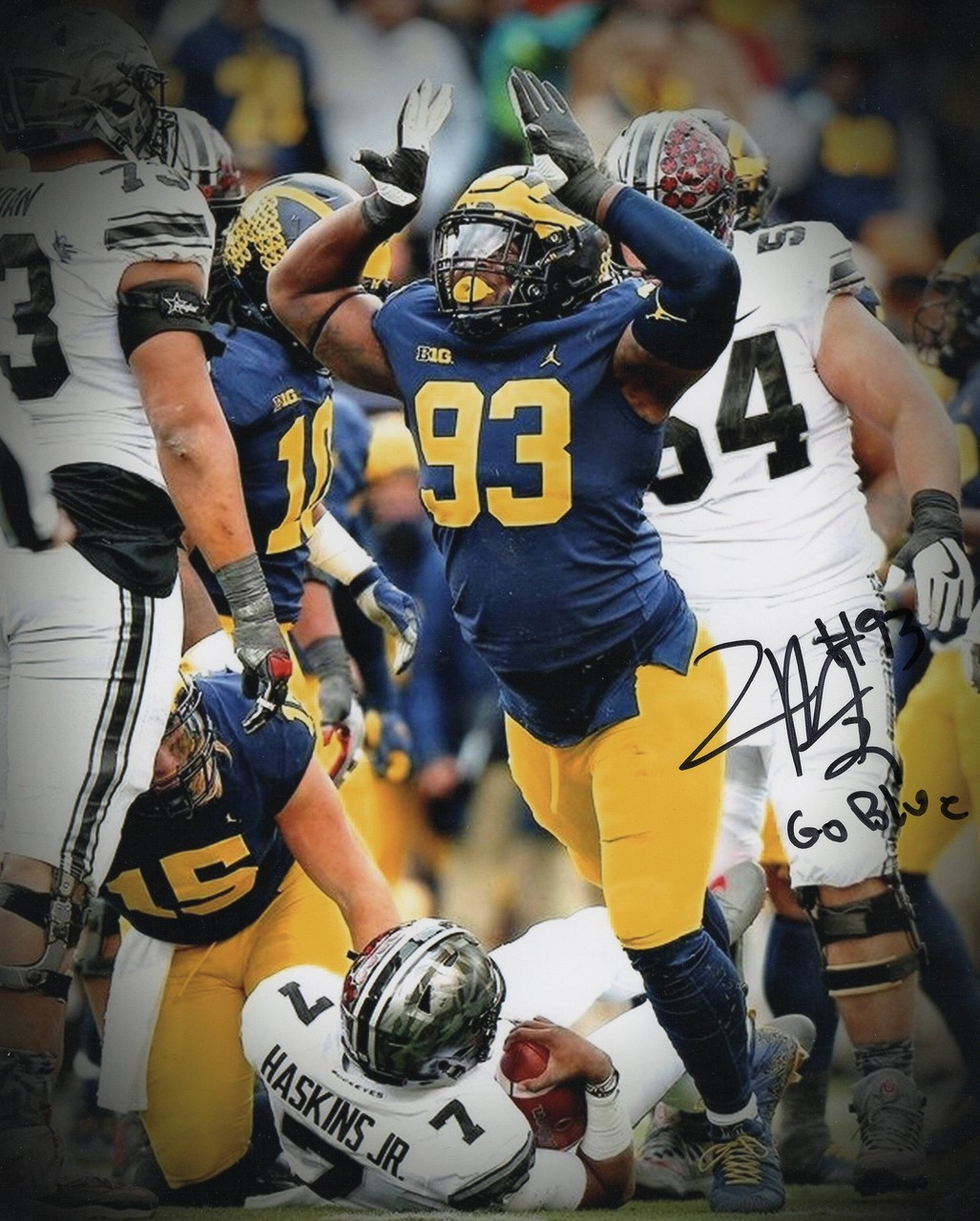 Lawrence Marshall Michigan Wolverines 16-1 16x20 Autographed Photo - Certified Authentic