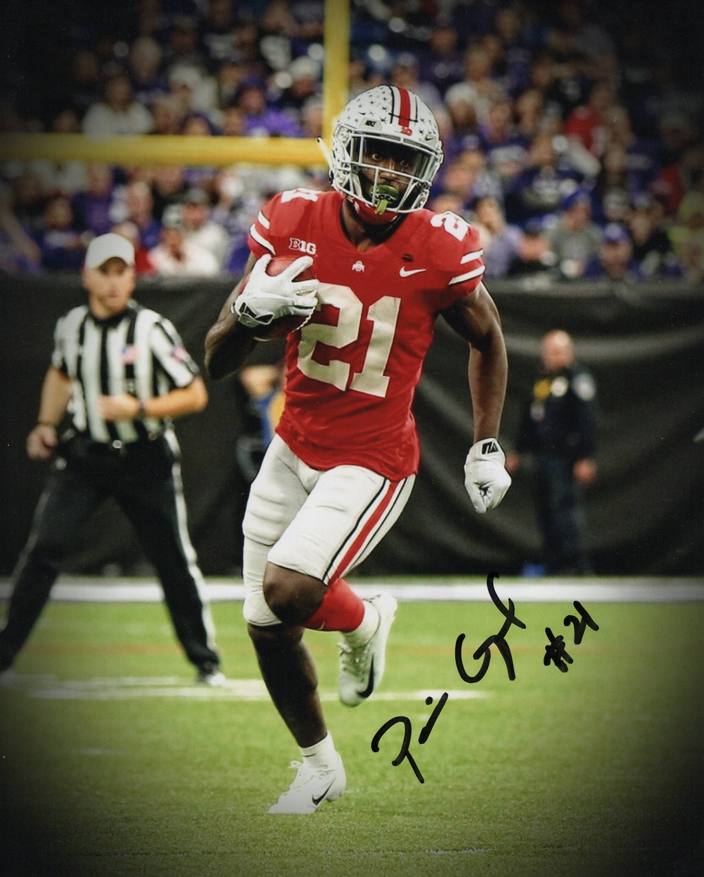 Parris Campbell Ohio State Buckeyes 11-1 11x14 Autographed Photo - Certified Authentic