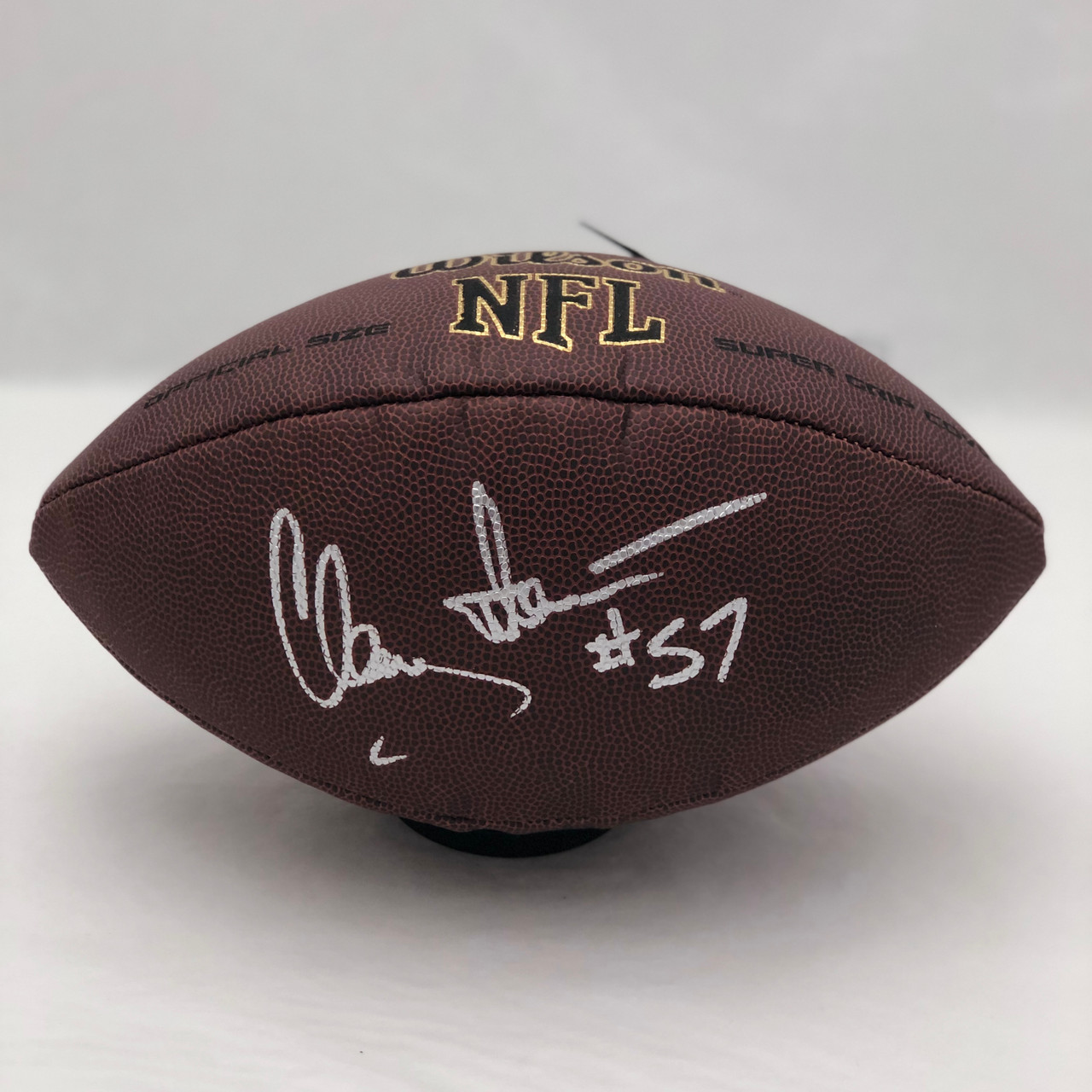 5ef3d5325 Clay Matthews Cleveland Browns Autographed Supergrip Football - PSA  Authentic
