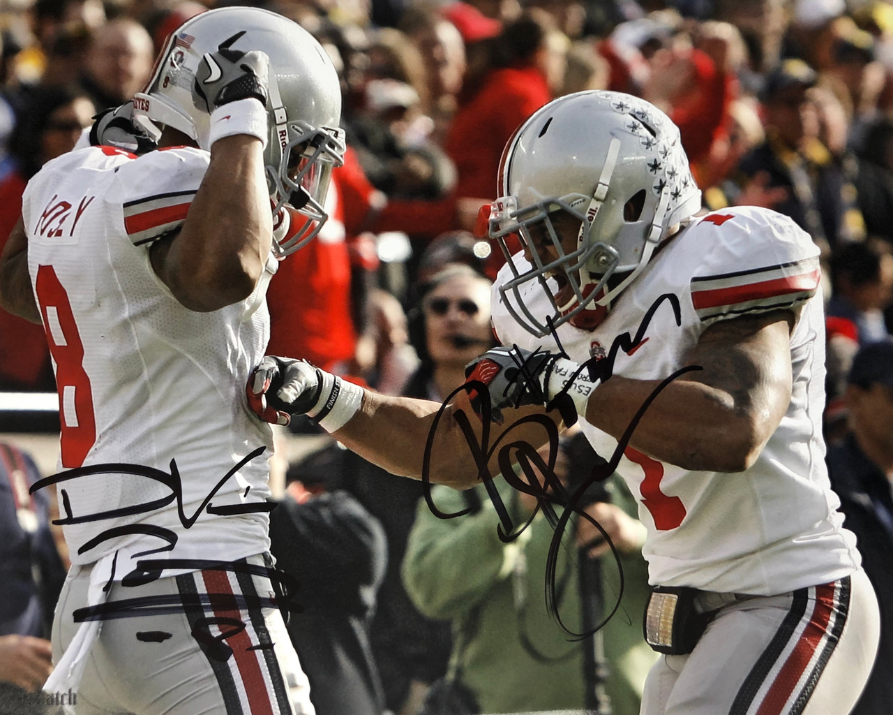 Boom Herron & DeVier Posey Ohio State Buckeyes 16-1 16x20 Autographed Photo - Certified Authentic