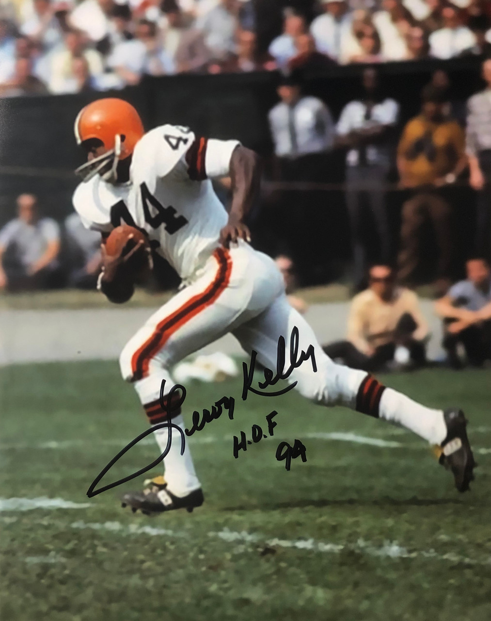 Autographed Leroy Kelly 8x10 Cleveland Browns Photo