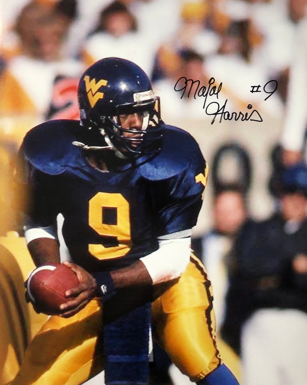Major Harris West Virginia Mountaineers 16-1 16x20 Autographed Photo - Certified Authentic