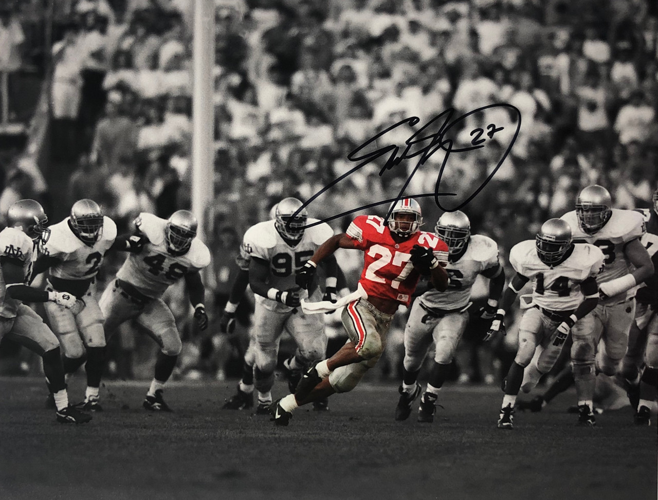 online store fd29f d1d22 Eddie George Ohio State Buckeyes 11-13 11x14 Autographed Photo - Certified  Authentic