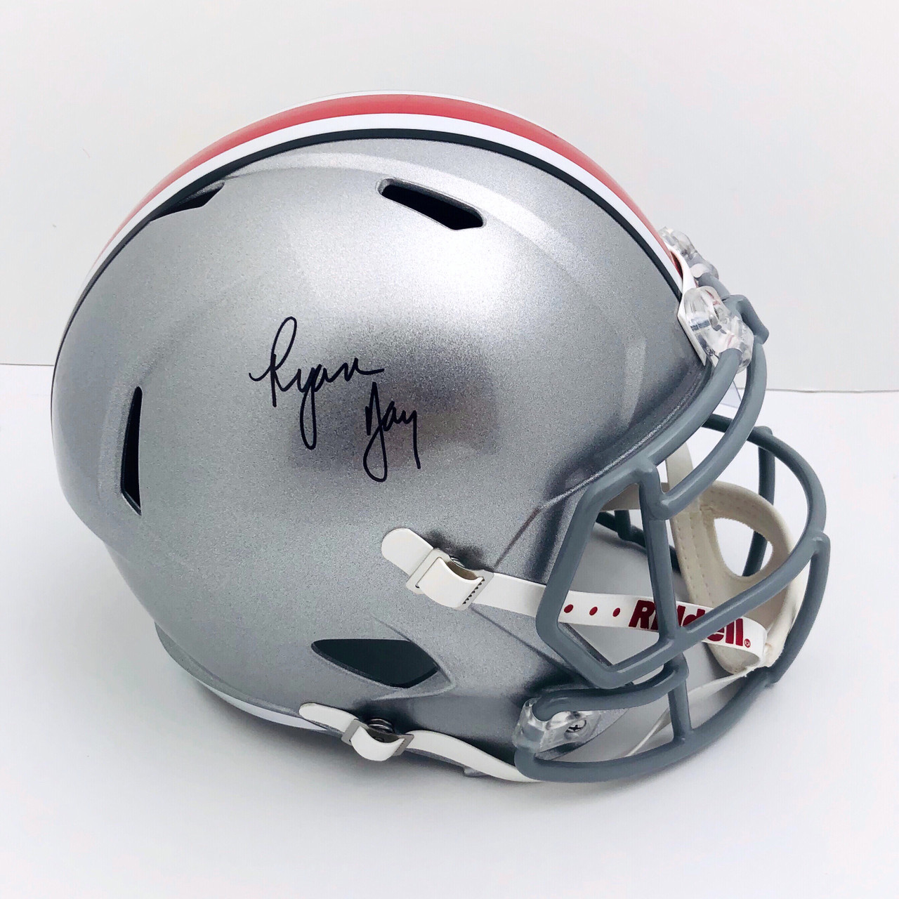 Ryan Day Ohio State Buckeyes Autographed Speed Replica Helmet - Certified Authentic