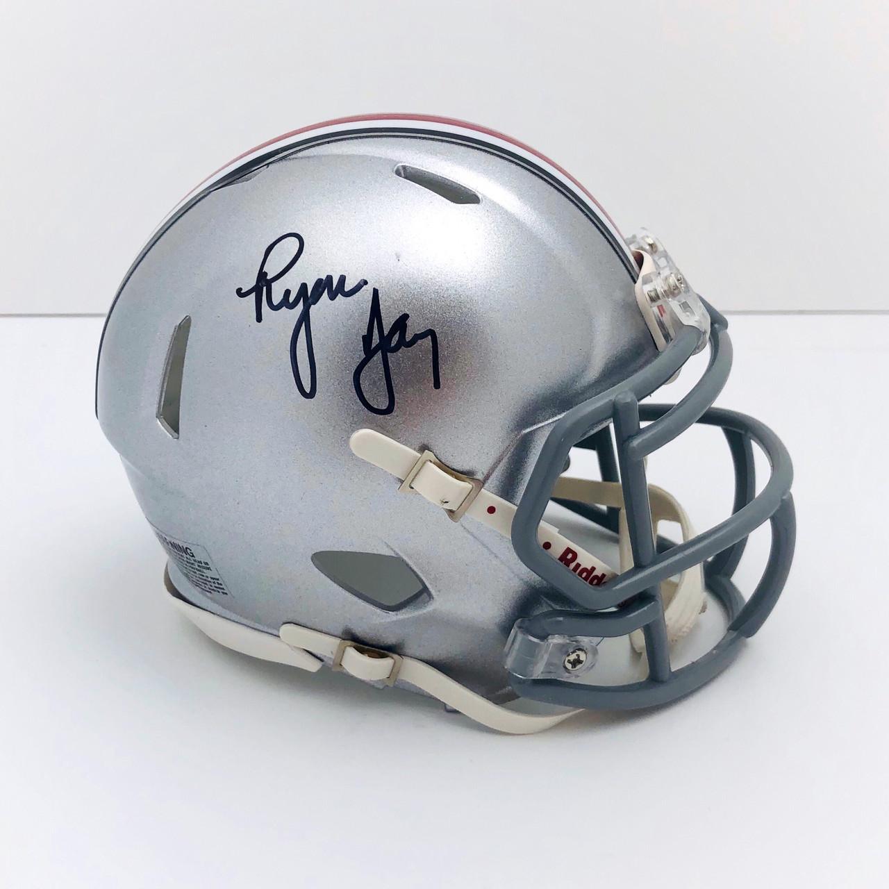 Ryan Day Ohio State Buckeyes Autographed Mini Helmet - Certified Authentic