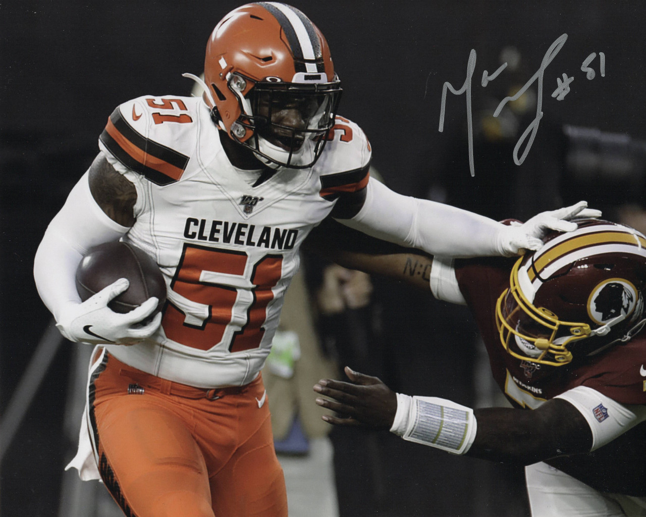 Mack Wilson Cleveland Browns 8-1 8x10 Autographed Photo - Certified Authentic