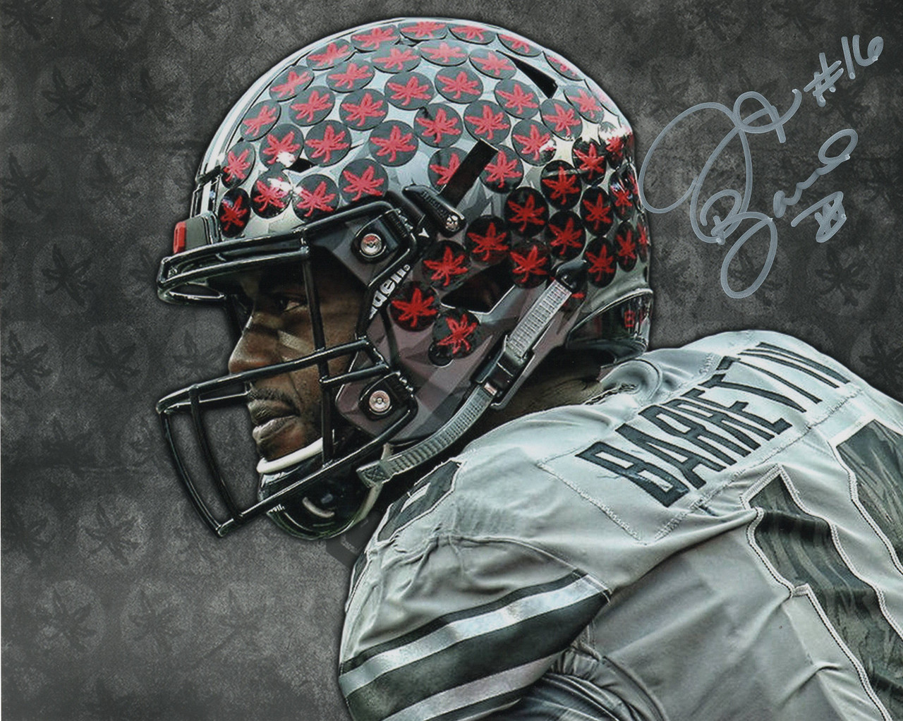 JT Barrett Ohio State Buckeyes 16-15 16x20 Autographed Photo - Barrett Hologram
