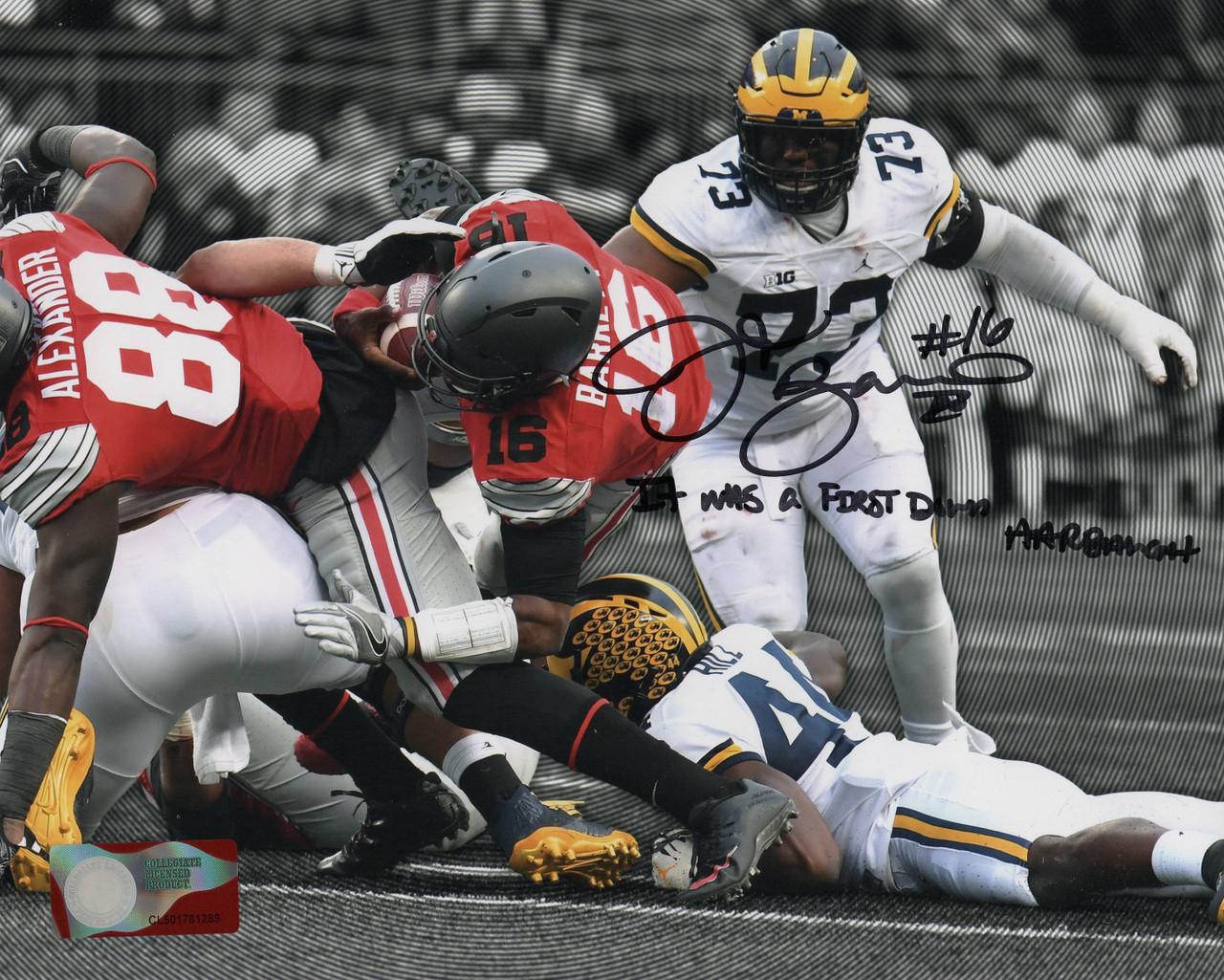 JT Barrett Ohio State Buckeyes 16-16 16x20 Autographed Photo - Barrett Hologram