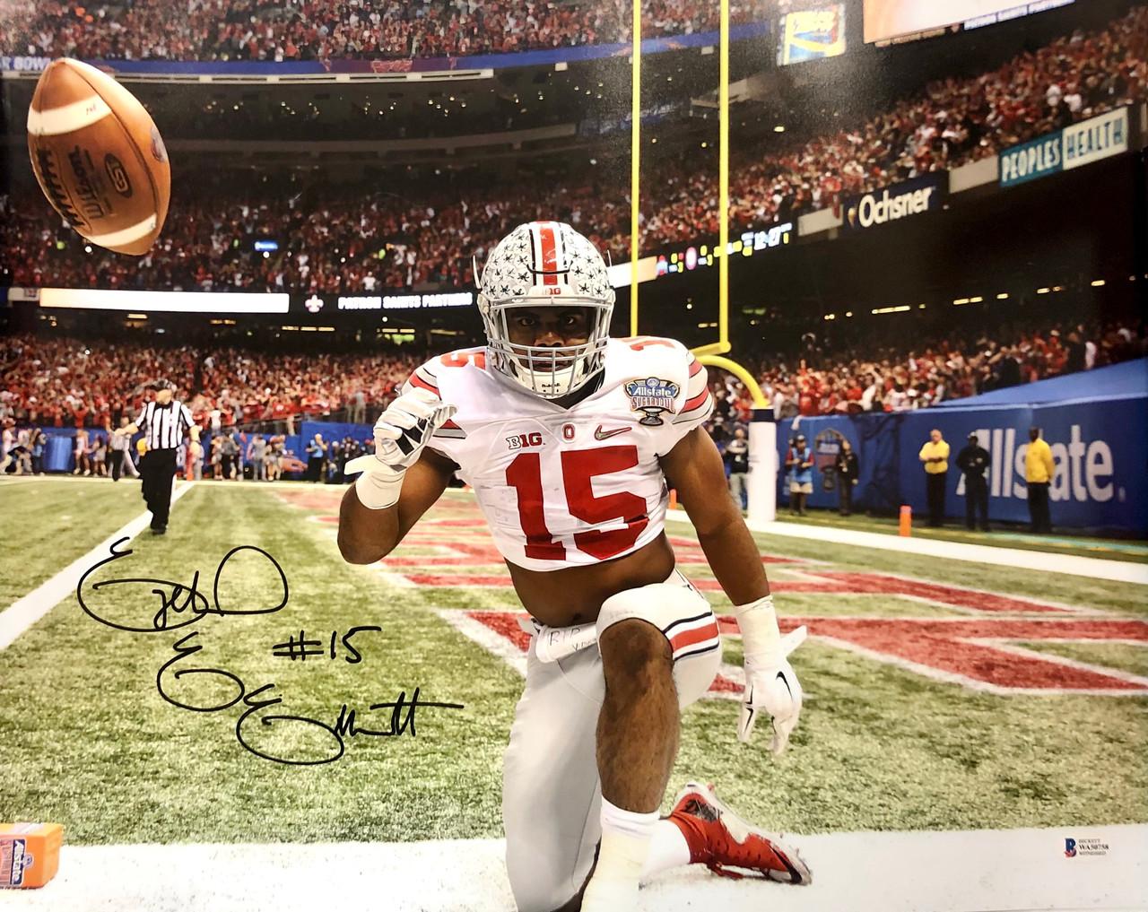 Ezekiel Elliott Ohio State Buckeyes 16-1 16x20 Autographed Photo - Beckett Authentic