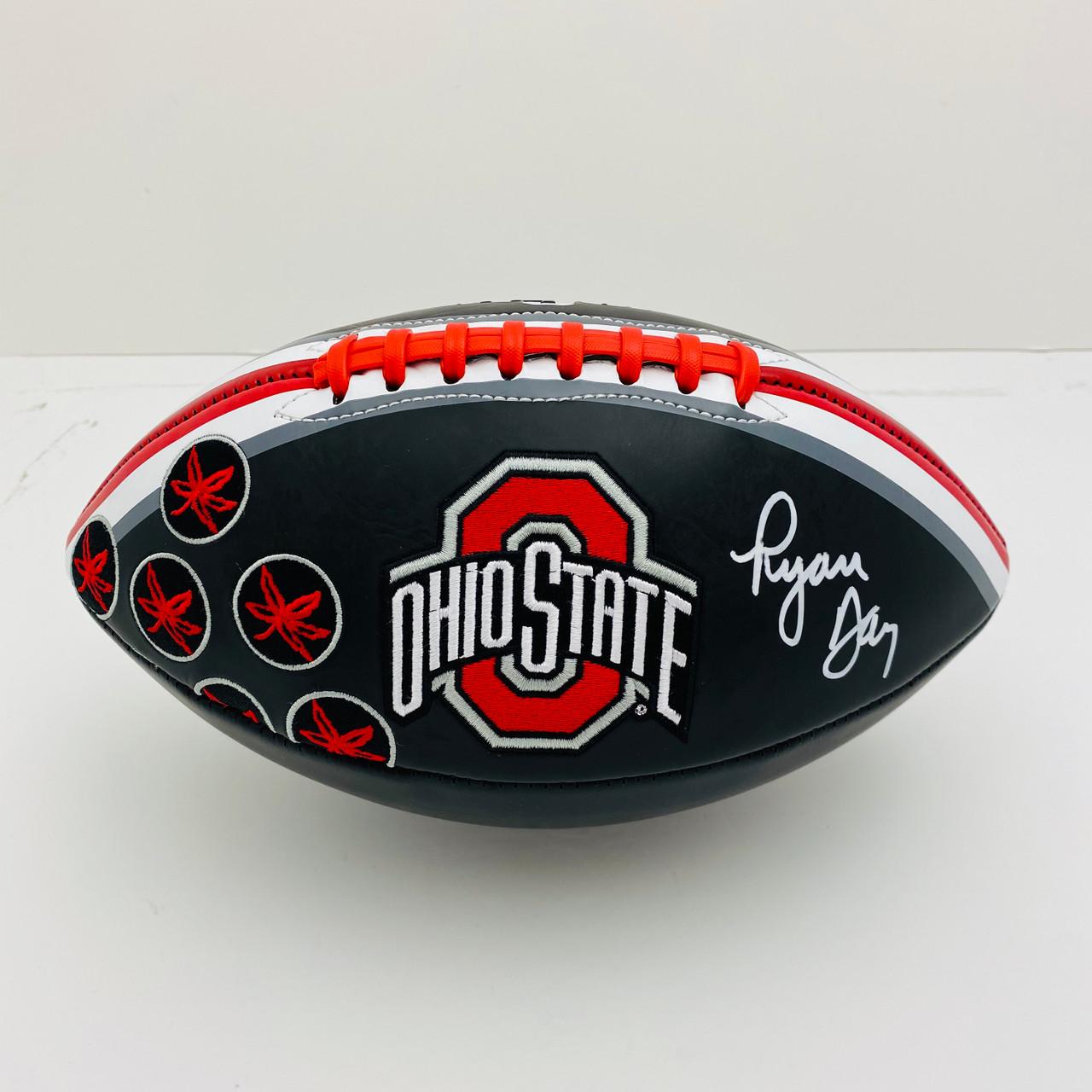 Ryan Day Ohio State Buckeyes Autographed Black Football - PSA Authentic