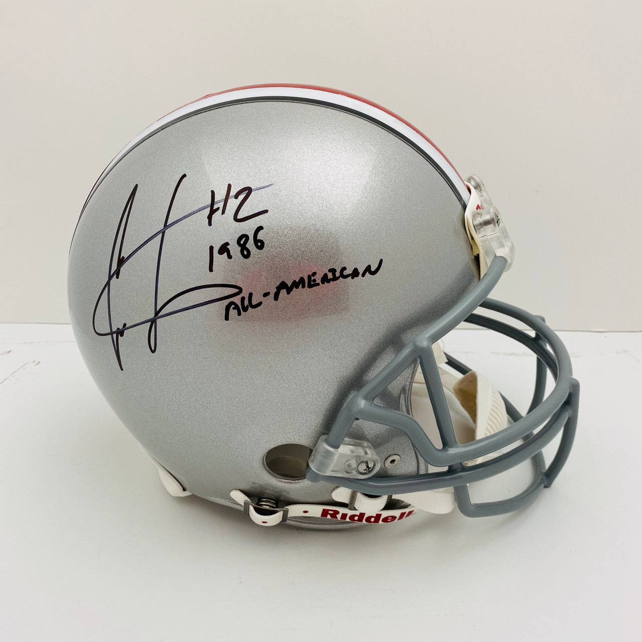 Cris Carter Ohio State Buckeyes '1986 All-American' Autographed Authentic Helmet - PSA Authentic
