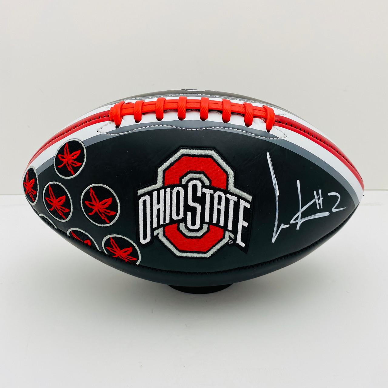 Cris Carter Ohio State Buckeyes Autographed Black Football - PSA Authentic