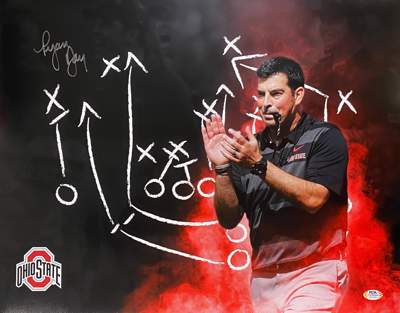 Ryan Day Ohio State Buckeyes 16-4 16x20 Autographed Photo - PSA Authentic