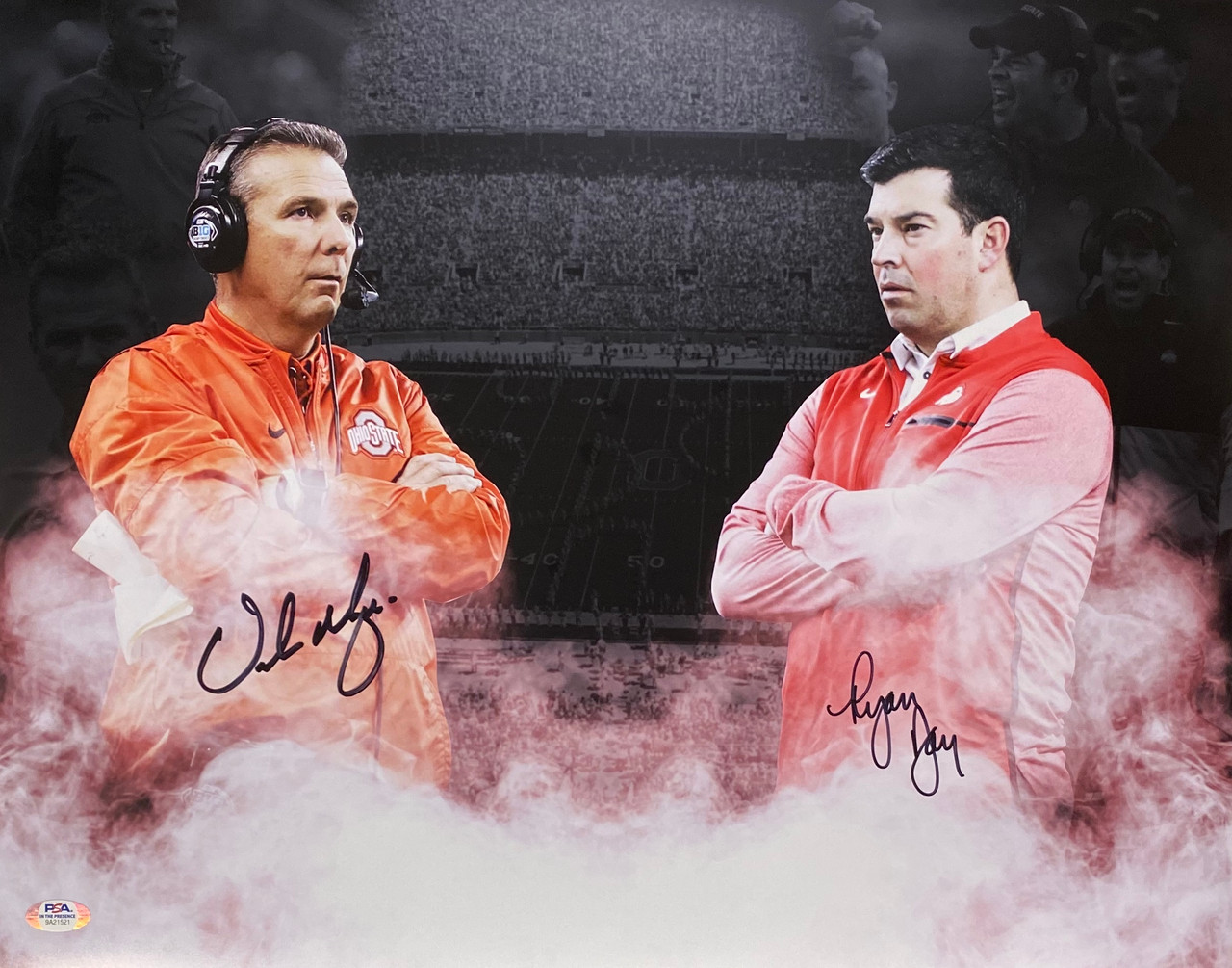 Urban Meyer & Ryan Day Ohio State Buckeyes 16-1 16x20 Autographed Photo - PSA Authentic