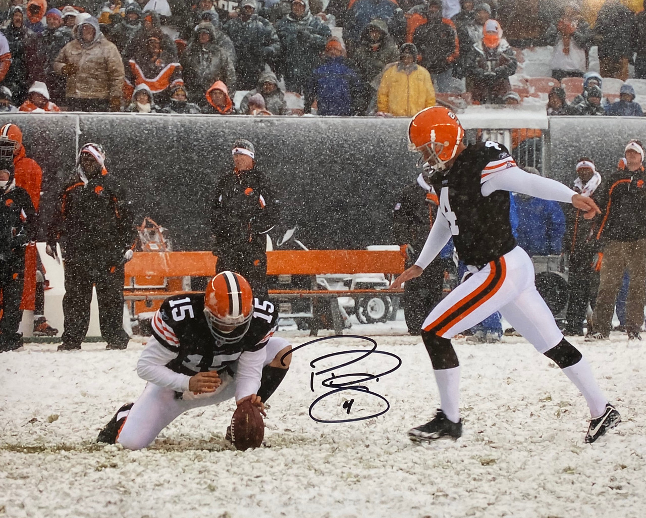 Phil Dawson Cleveland Browns 24-1 24x30 Autographed Photo - Certified Authentic