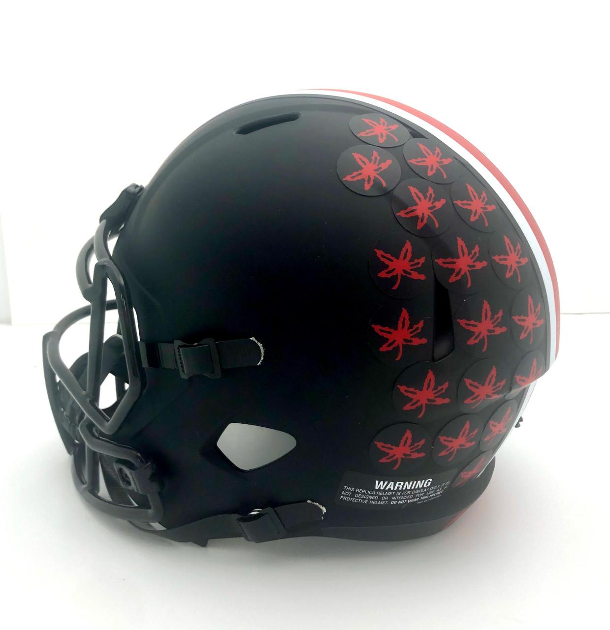 Ezekiel Elliott Ohio State Buckeyes Autographed Eclipse Black Replica Helmet - Beckett Authentic