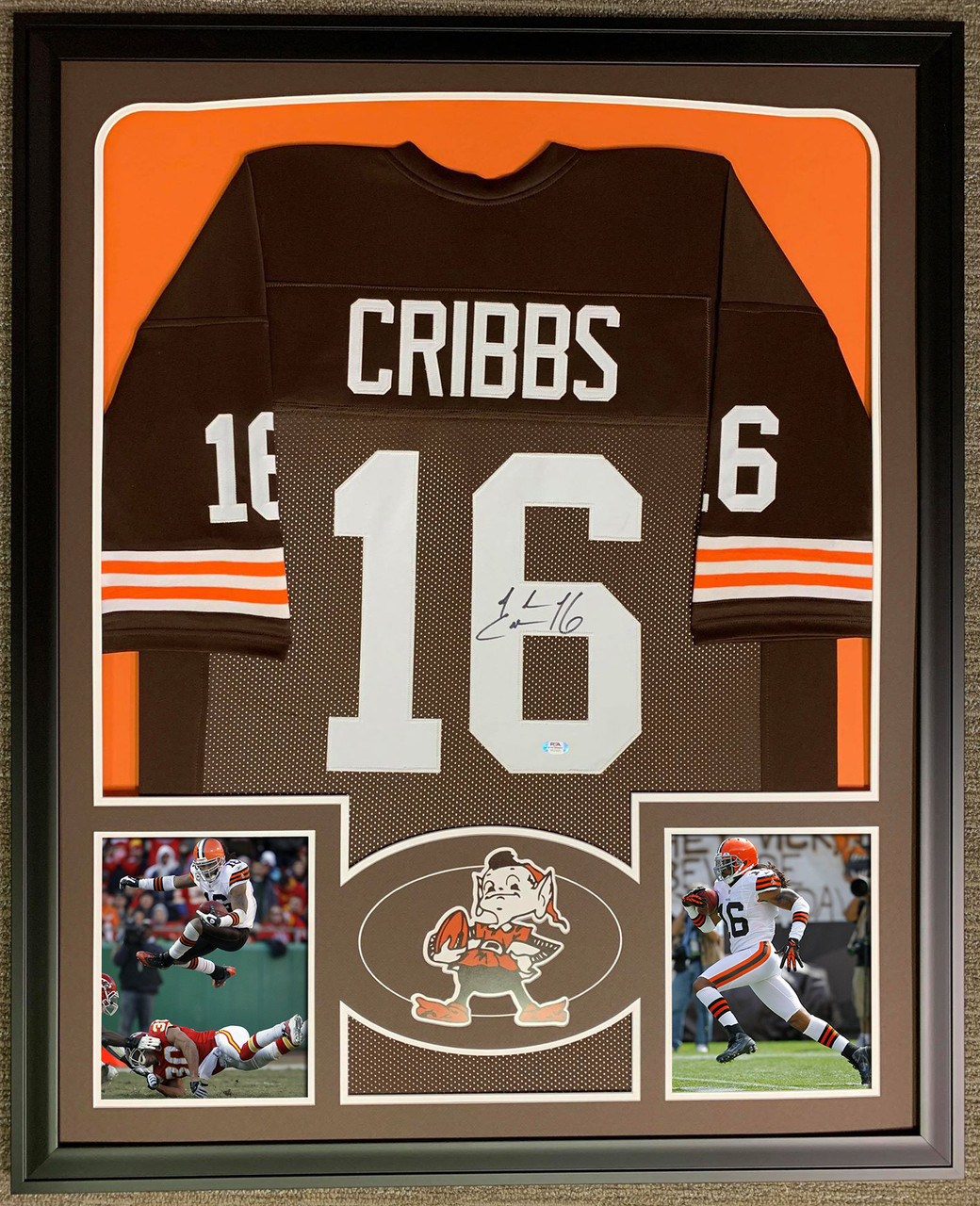 Josh Cribbs Autographed & Framed Jersey Cleveland Browns