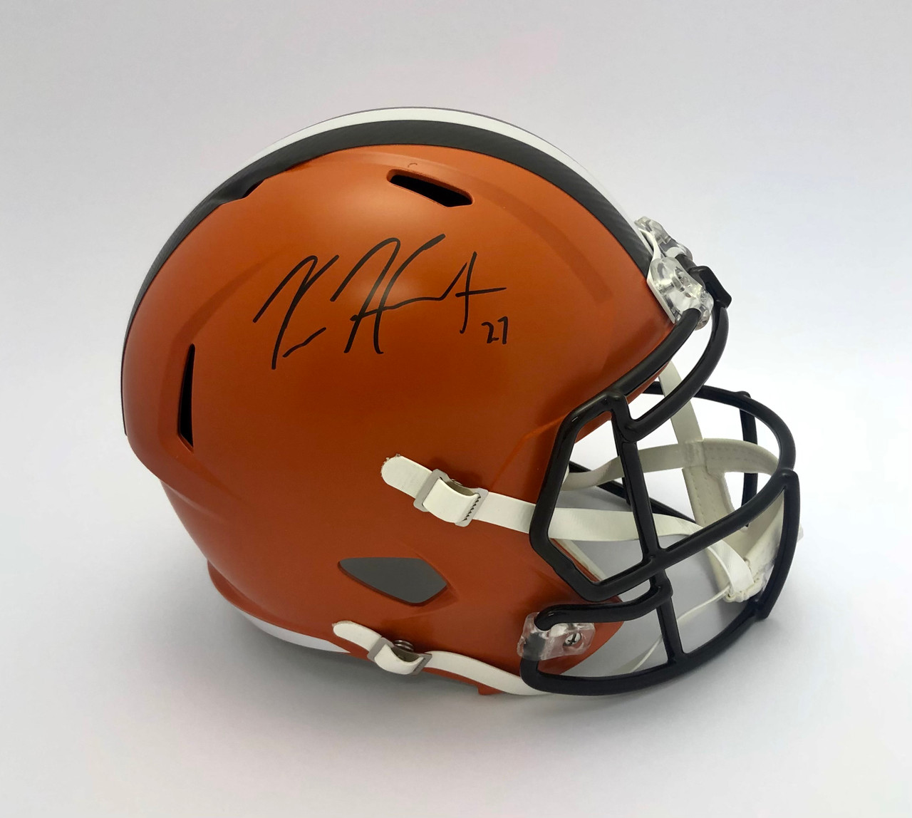 Kareem Hunt Cleveland Browns Autographed Replica Helmet - PSA Authentic