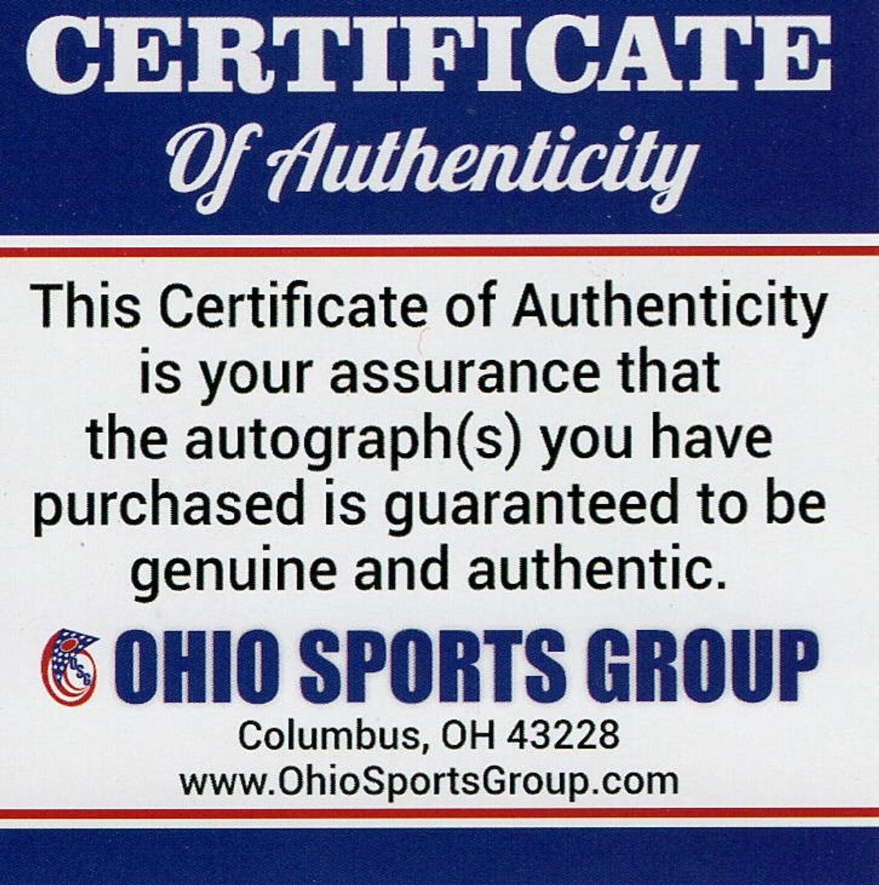 Joe Burrow Ohio State Buckeyes Autographed Eclipse Mini Helmet - Certified Authentic