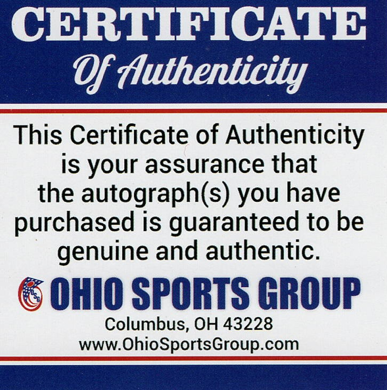 Ohio State Buckeyes Four Heisman Autographed Jersey - Certified Authentic