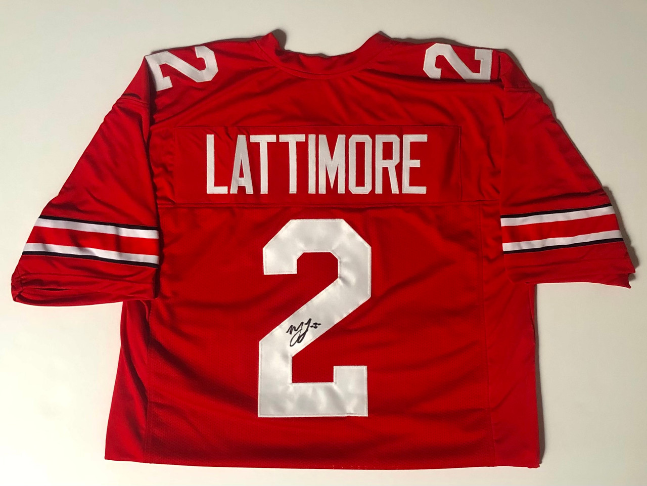 Marshon Lattimore Ohio State Buckeyes Autographed Jersey - Certified Authentic