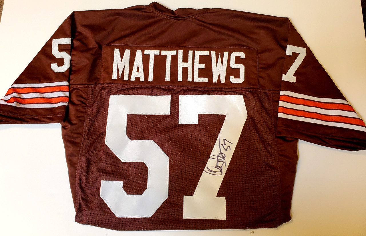 Clay Matthews Cleveland Browns Autographed Jersey - Certified Authentic