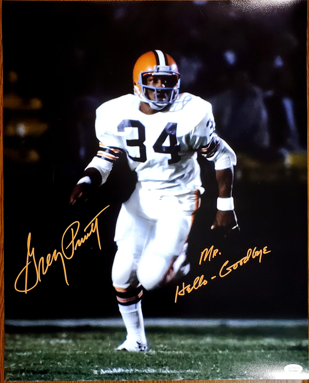 Greg Pruitt Cleveland Browns 16-2 16x20 Autographed Photo - JSA Authentic